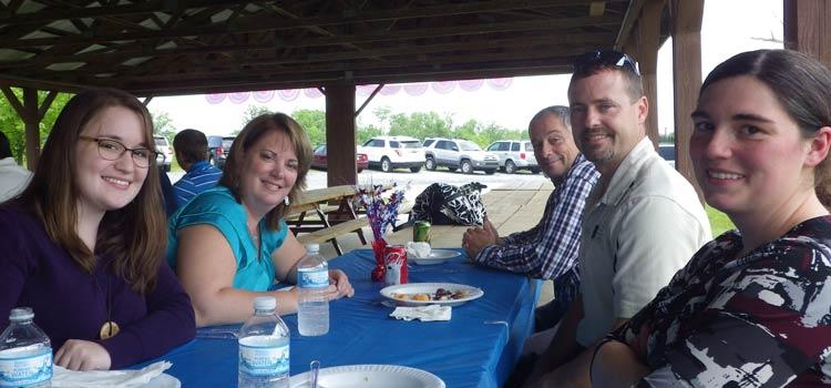 2014 Picnic – Bethany, Donna, John, Paul, and Bethany