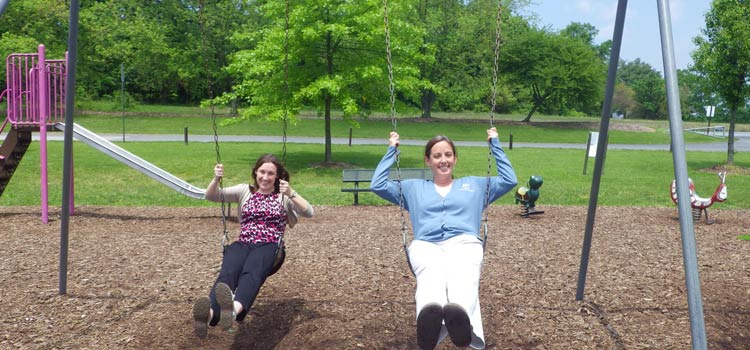 Kelly and Emily at 2014 Picnic